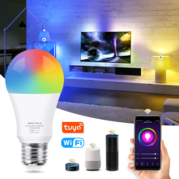 WiFi Smart Light Bulb 12W 15W RGB+White+Warm White E27 LED Bulb Dimmable Alexa Compatible Tuya Smart Life APP Google Assistant