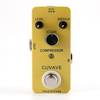 CUVAVE Electric Guitar Effects Pedal Mini Classic Compressor Fully Metal Shell Guitarra Effect Guitar Parts Accessories mooer acoustikar guitar simulator effect pedal mini electric guitar effects truebypass with free connector and footswitch topper