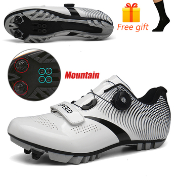 Carbon Fiber Men Cycling Shoe Breathable Triathlon Mountain Bike Shoes Man Sport Road Racing Snaeker Spin Buckle 13