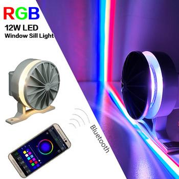 Bluetooth RGB LED parapet okienny światło dla KTV Hotel Bar drzwi ramka do obrazu korytarz telefon bezprzewodowe lampy LED 360 stopni miga tanie i dobre opinie VisWorth Do montażu na ścianie Żarówki led W górę iw dół Metrów 10-15square Kinkiety Pilot zdalnego sterowania