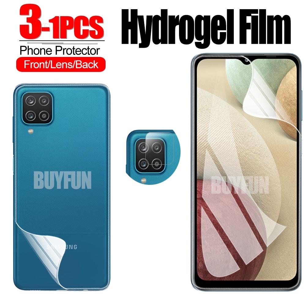 1-3 шт. Гидрогелевая пленка для Samsung Galaxy A12, защита экрана, защитная пленка для камеры samsung a12 samsang, пленка для объектива экрана