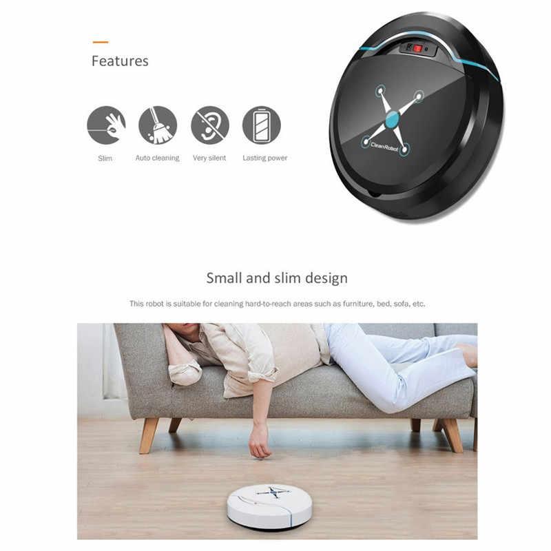 אוטומטי אינטליגנטי רובוט שואב אבק רצפת לטאטא רובוט רצפת לכלוך אבק שיער אוטומטי מנקה USB טעינה בית