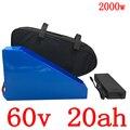Freies gewohnheiten steuer 60V Lithium-batterie 60V 20AH elektrische fahrrad batterie 60V 1000W 1500W 2000W elektrische roller batterie mit ladegerät