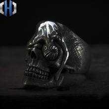 Original Design Handmade Silver Guardian Ring Personality Punk 925