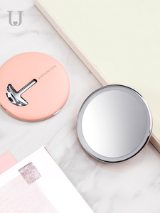 Image 4 - Youpin HD Makeup Mirror with LED Color Blue Light Cosmetic Mirror Mini Portable Touch Control Sensing Mirror For Beauty Makeup