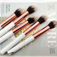 Powder Brush Blush Highlighter Makeup Brushes Blending Shader Facial Body Marble pattern Soft Professional Cosmetic Tool