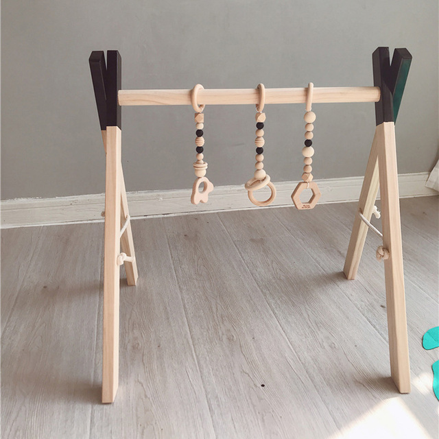 Nordic Style Baby Gym Play Nursery Sensory Toy Wooden Frame Infant Room Toddler Clothes Rack Gift Kids Room Decor