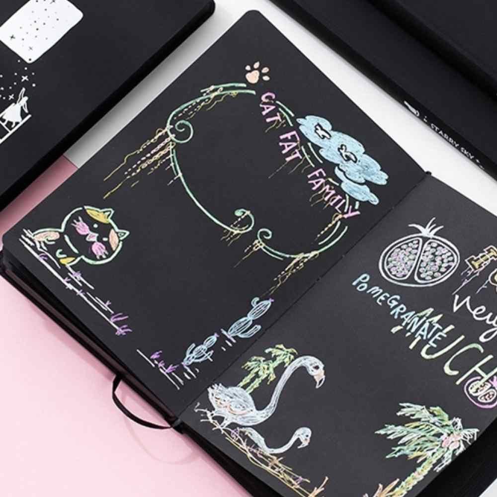 Cielo stellato Nero di Carta Notebook Planner Album Sketchbook Diario Ufficio Papelaria FAI DA TE Cancelleria Nota Libro di Scuola di Cancelleria L3H4