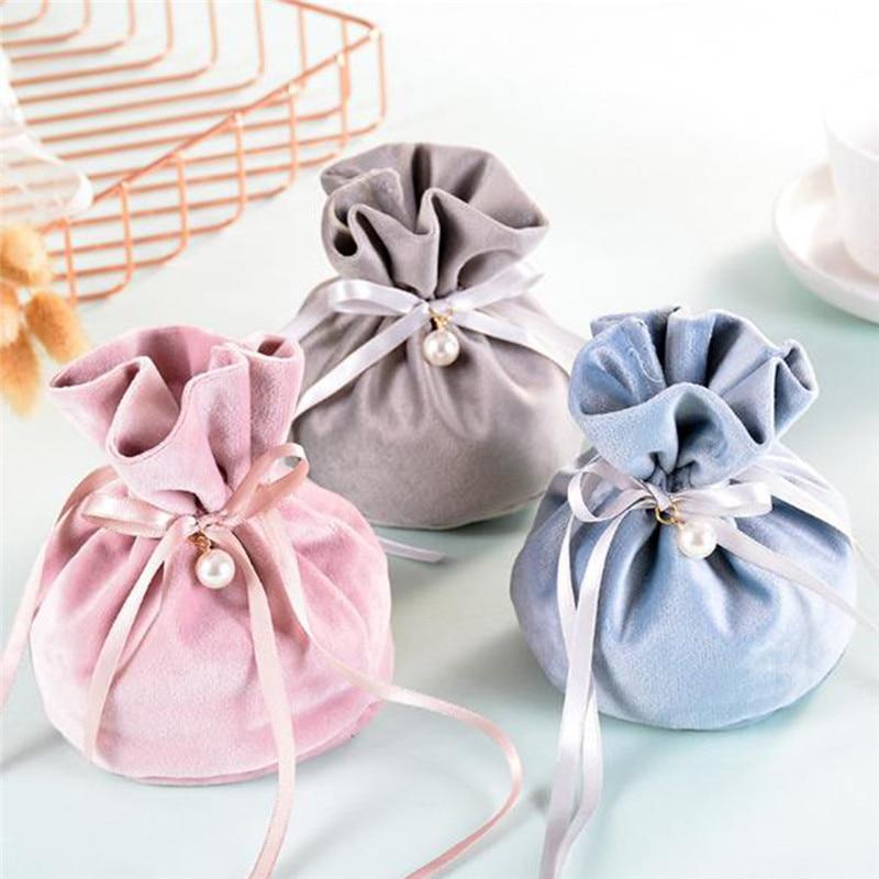 5 шт./упак. подарочные пакеты для ювелирных изделий Свадебные сувениры и подарки коробка сладких конфет сумка для хороший подарок на день