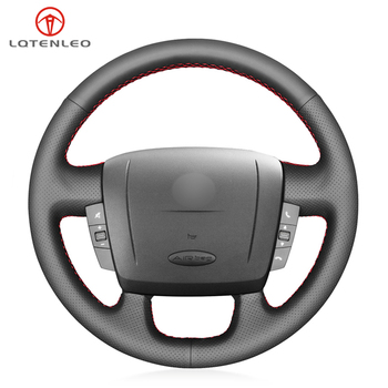 LQTENLEO Black PU Leather Car Steering Wheel Cover For Peugeot Boxer 2006-2019 Citroen Jumper Relay Fiat Ducato Ram ProMaster тормозные колодки дисковые abs jumper relay boxer s60 ducato 06 19 37577
