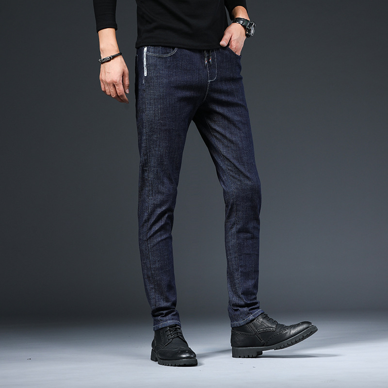 ICPANS Korea Skinny Jeans Men Slim Fit Black Blue Elastic Waist Pencil Denim Pants Men 2020 Spring Summer 3