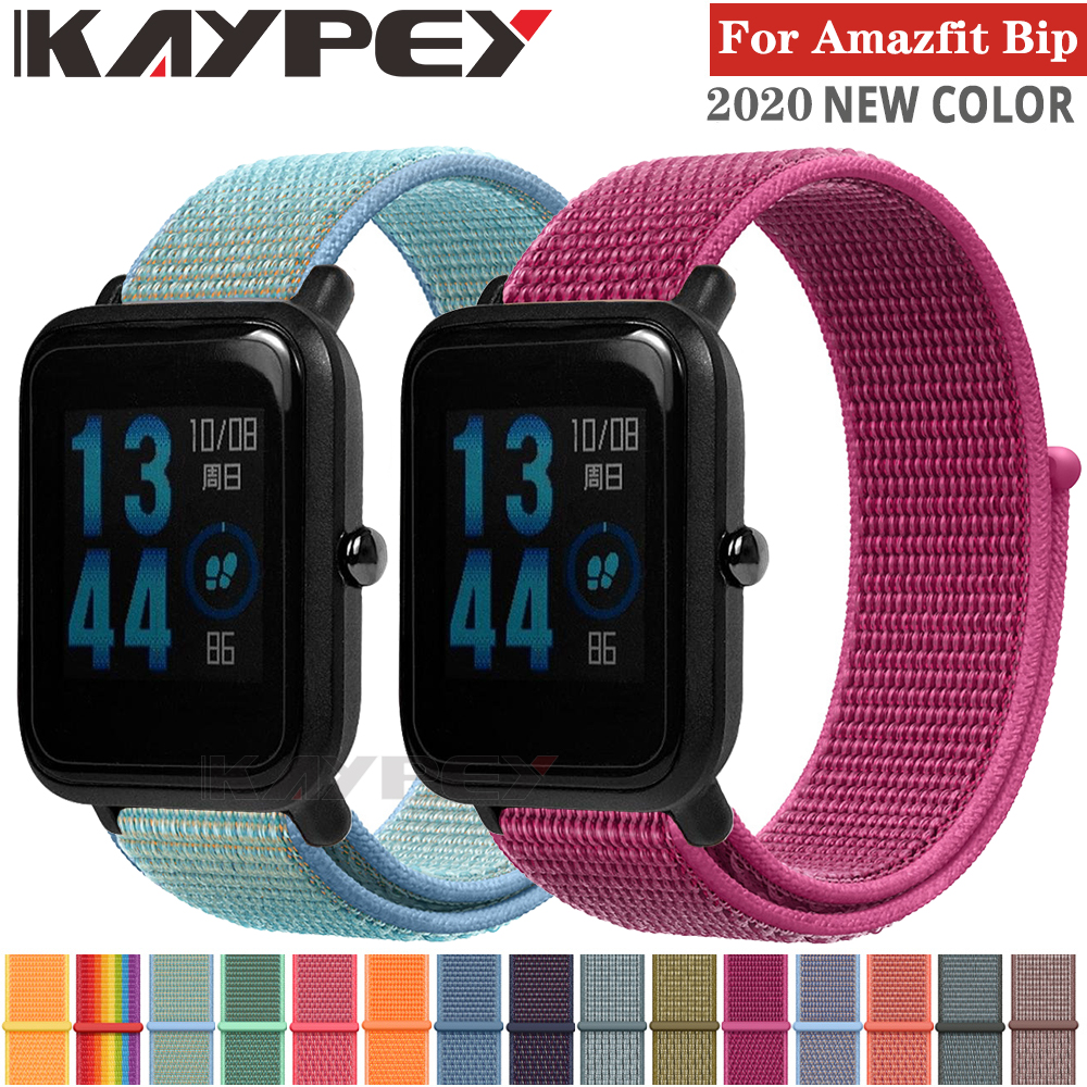 20mm Wrist Strap For Xiaomi Huami Amazfit Bip Smart Watch Woven Nylon Loop Band Bracelet For Amazfit GTS/Bip Lite Watchband