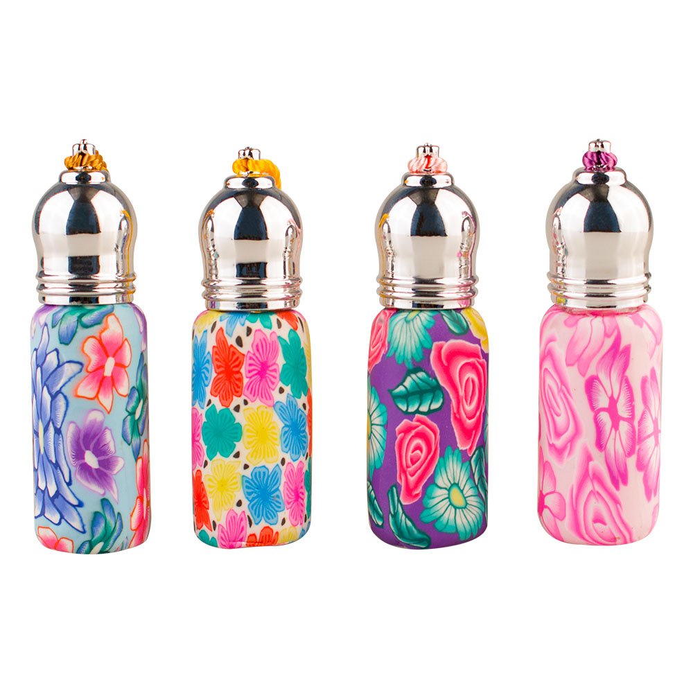 Coloured Ball Bottle 6ml New Frosted Soft Ceramic Essential Oil Bottle, High-end Perfume Bottle, Mini Glass Bottle.