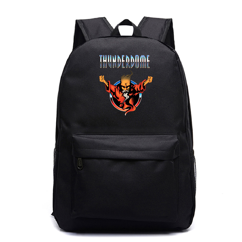 Thunderdome Black Backpack Teen Casual Backpack Elementary School Backpack Backpack Travel Backpack