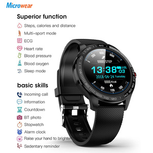 Image 5 - Microwear L9 PPG+ECG Smart Watch Blood Pressure Oxygen Heart Rate Monitoring Fitness Sport Watch IPS Colorful Screen Smart Band