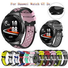 Correa de reloj de 22mm para Huawei watch GT 2e/GT2, 46mm/GTR, 47mm, correa de muñeca de silicona para Garmin Vivoactive 4