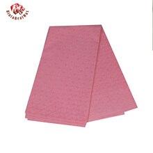 Bintarealwax Polyester Jacquard Stoff Bazin Riche Rosa Farbe Material für Nähen Männer Robe Kleidung 5 Yards/Lot Tuch CS3310