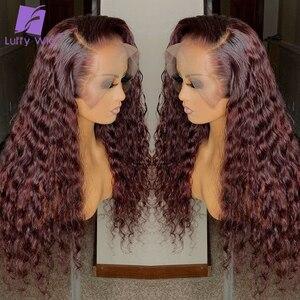 Colored Human Hair Wigs 99j Cu