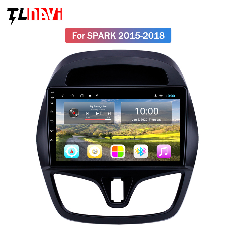 2G RAM Android 9 For CHEVROLET Spark Beat 2015 2016 2017 Multimedia Stereo Car DVD Player Navigation GPS Radio