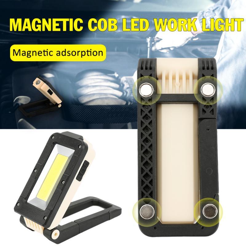 Multi-fonction 3-en-1 Rechargeable LED COB Camping travail Inspection lampe lampe Portable magnétique pliant lampe de poche à LED