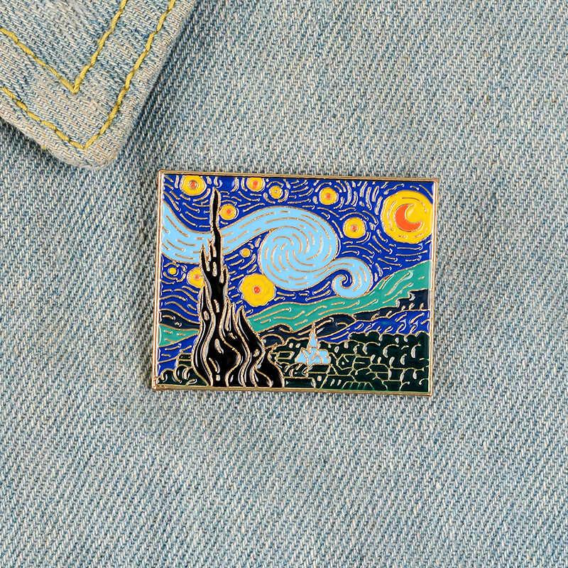 Kreativitas Seni Enamel Minyak Lukisan Bunga Pesan Bikin Buat Cetak Pesan Beli Batu Nisan Lencana Bros Denim Pakaian Fashion Perhiasan Hadiah untuk Teman
