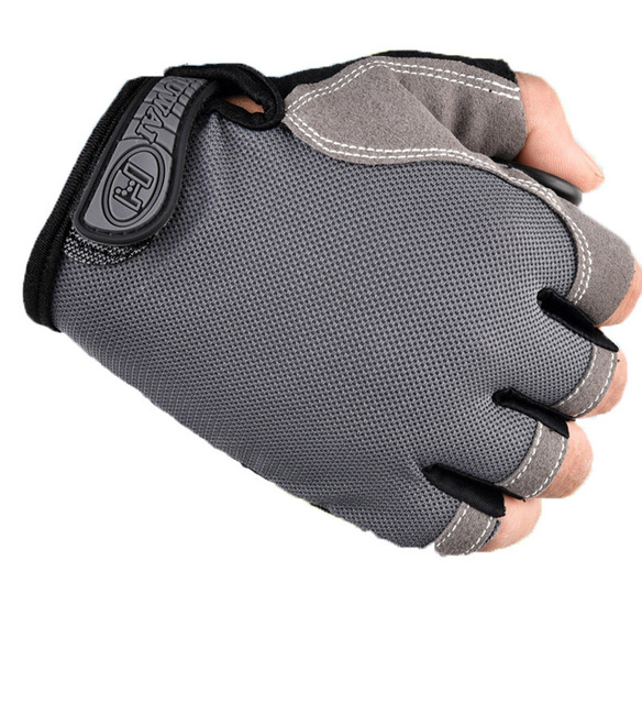 Luvas de ciclismo luvas de bicicleta anti derrapante choque respirável metade do dedo curto luvas esportivas acessórios para homens 5