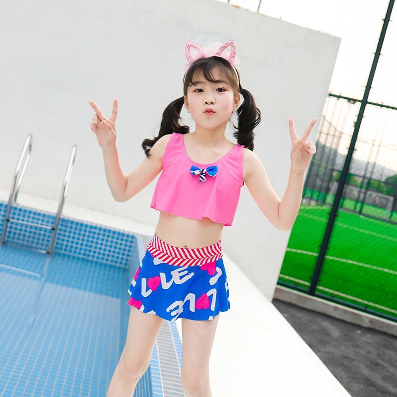 Summer New Style KID'S Swimwear Navy Stripes Children One-piece Swimsuit Fashion GIRL'S Swimsuit