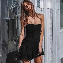 Женское пляжное мини платье lofia летнее шифоновое на бретельках