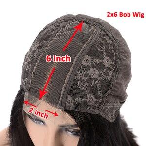 Image 5 - 2x6 Short Bob Wig Pre Plucked Lace Closure Wig Brazilian Straight Virgin Human Hair Wig 180% Density 10~14 Inch