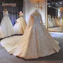 2020 Dubai luxury full beading wedding dress bridal dress heavy beading(China)