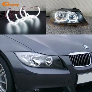 Image 2 - Cho Xe BMW E90 E91 Saloon Lưu Diễn Trước LCI 2005 2006 2007 2008 Cực Tốt Pha Lê DTM M4 Phong Cách Đèn Led Siêu Sáng đôi Mắt Thiên Thần Hào Quang Nhẫn