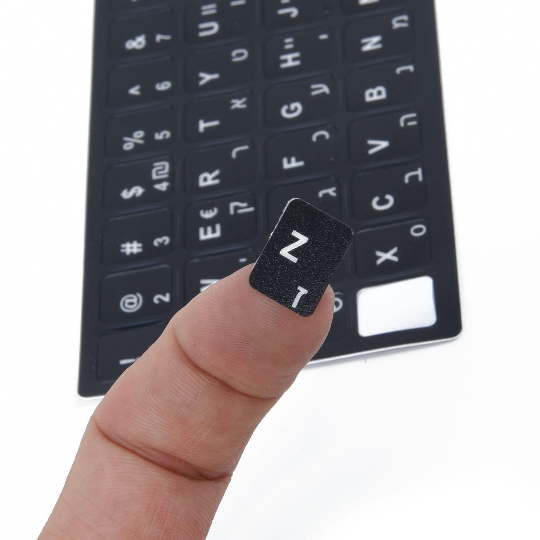 Computer Keyboard Sticker Laptop Matte White Letter 1pcs For Windows Centered Key Universal