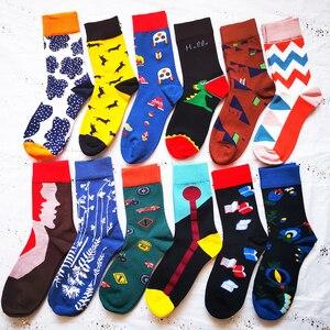 Image 5 - כותנה נשים גרבי צבעוני עבה חורף גרבי חם כותנה גרביים חמוד גרביים שמחים מצחיק גרבי נשים גבירותיי כותנה גרביים חמוד