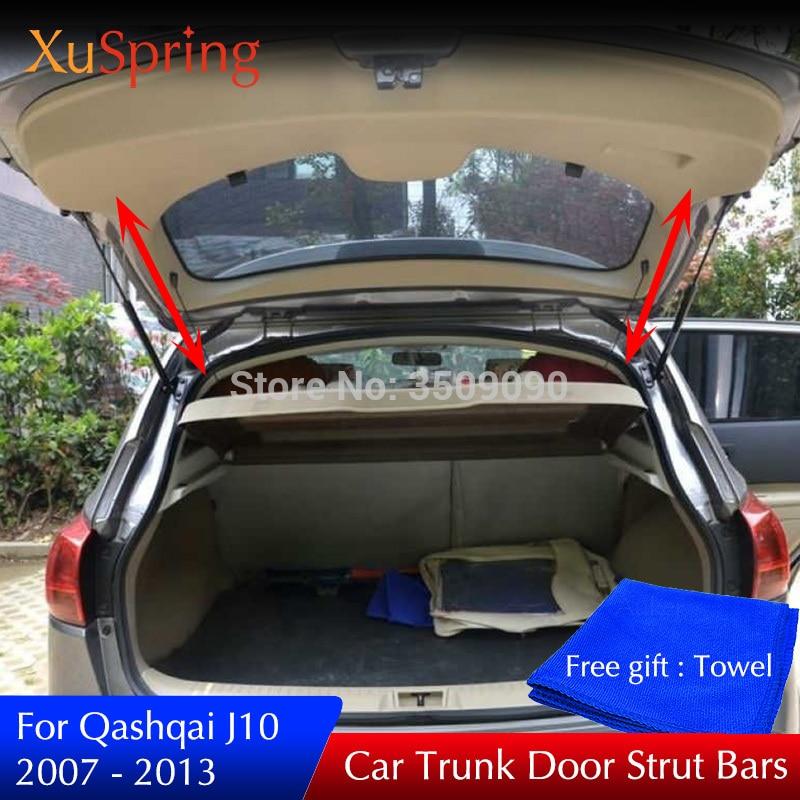 Araba arka kapı bagaj bahar güçlendirici gergi çubukları şok gaz braketi 2 adet/takım Nissan Qashqai 2007 2013 için J10|Krom Şekillendirici|   -