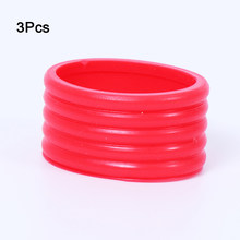 Absorbing Sports 3pcs Badminton Absorb Overgrip Tennis Grip Ring Stretchy Handle's Fix Ring Silicone Racquet Elastic Racket Band(China)