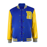 Archie Andrews Cosplay Costume Riverdale Baseball Jacket Men's Winter Autumn PU Coat