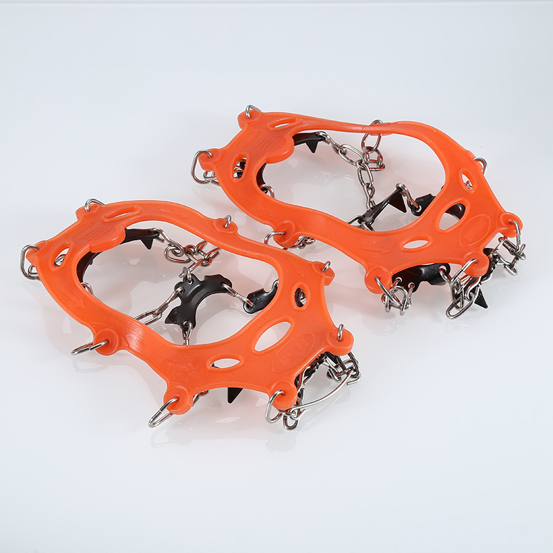 11 Teeth Sharp Claws Ice Shoes Cover Crampons For Children Outdoor Climbing Antiskid Crampons Steel Slip Shoe Covers