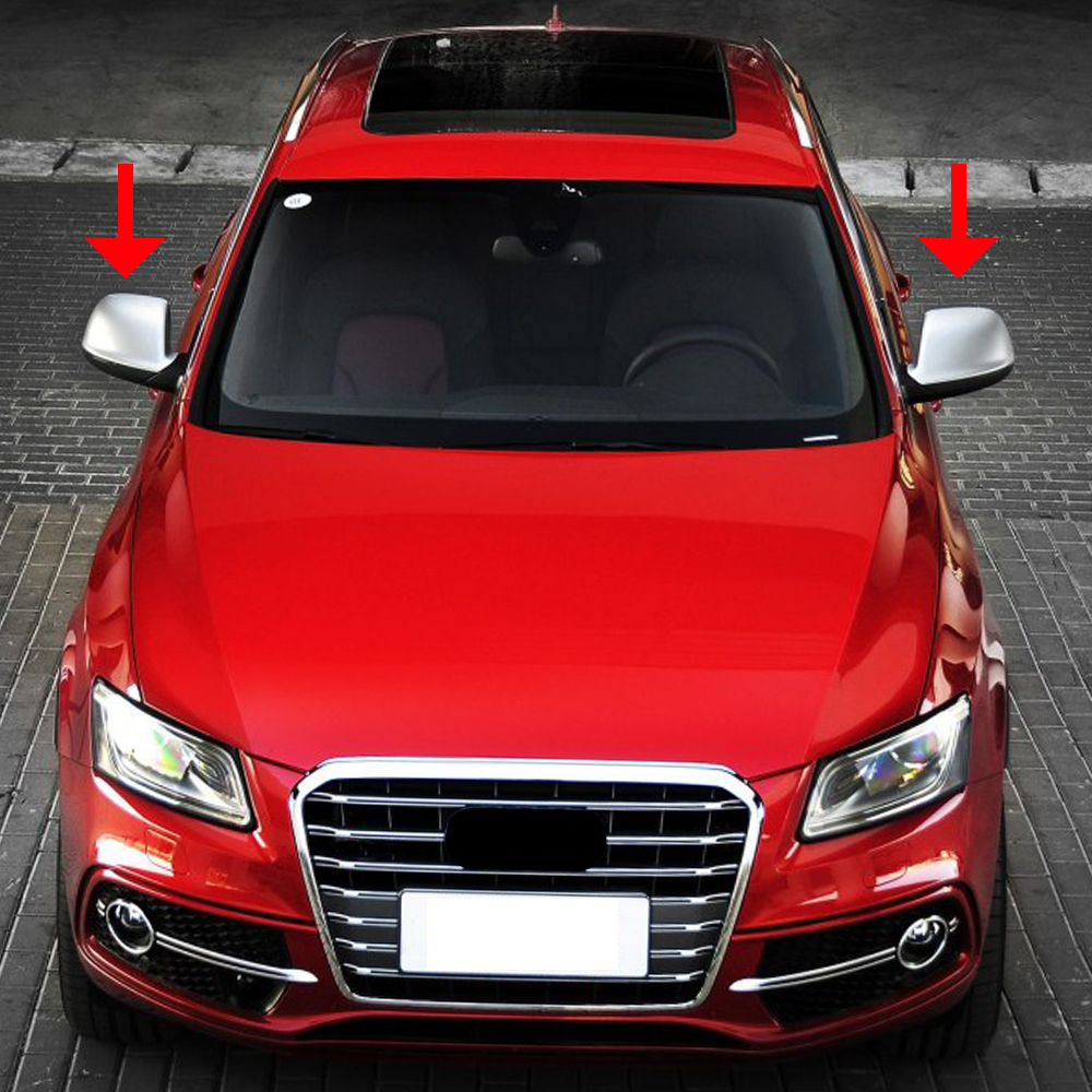 Matte Chrome ABS Rearview Mirror Shell Cover Protection Cap for Audi Q5//Q7