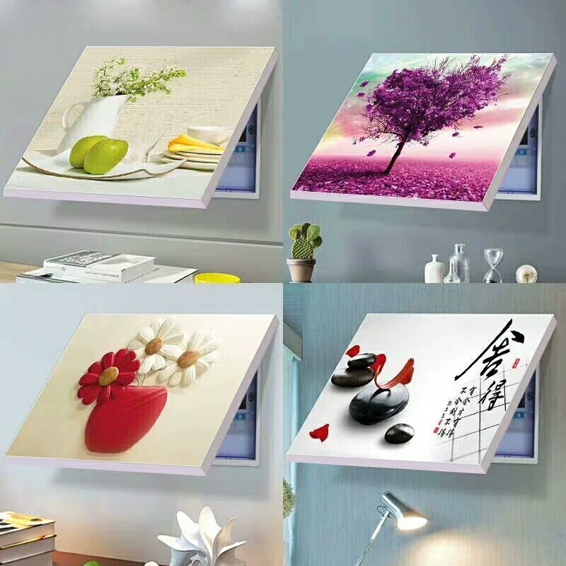 Distribution Box Decoration Fashion Style Punch-free Europe Mural Photo Album Install Meter Boxs Embellish Switch Electric Gate