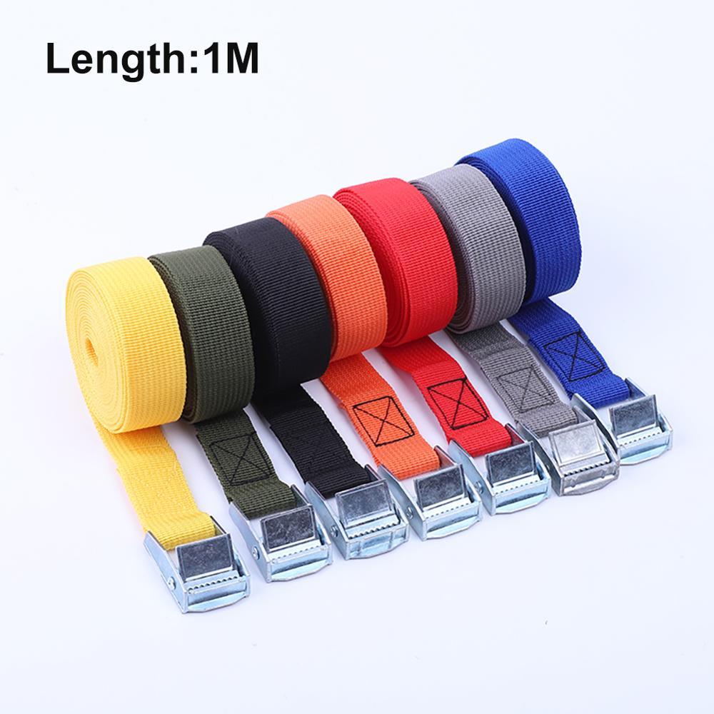 Corda elástica de 1m com tensão, forte, cinto de catraca para óculos de carro de carga, bolsa de bagagem de viagem com fivela de metal cinta de amarração para baixo