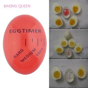 BAKING QUEEN Egg Timer Color Changing Timer Red timer tools Kitchen Eco-Friendly Resin Egg Timer Kitchen Supplies(China)