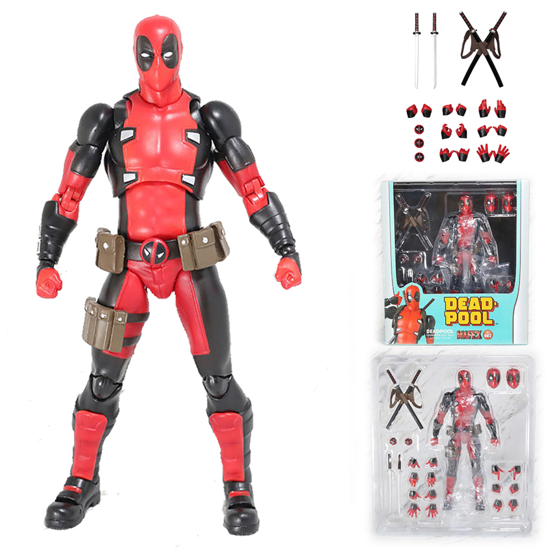 New Mafex 082 Deadpool Comic Version Action Figure Model Toy Doll Gift For Kids image