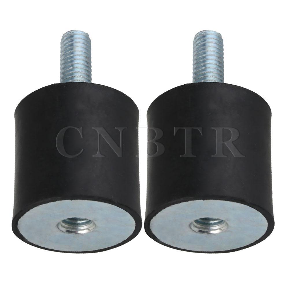 CNBTR 2pcs 30x30mm Rubber Isolator Mounts Shock Absorber M8 External Thread