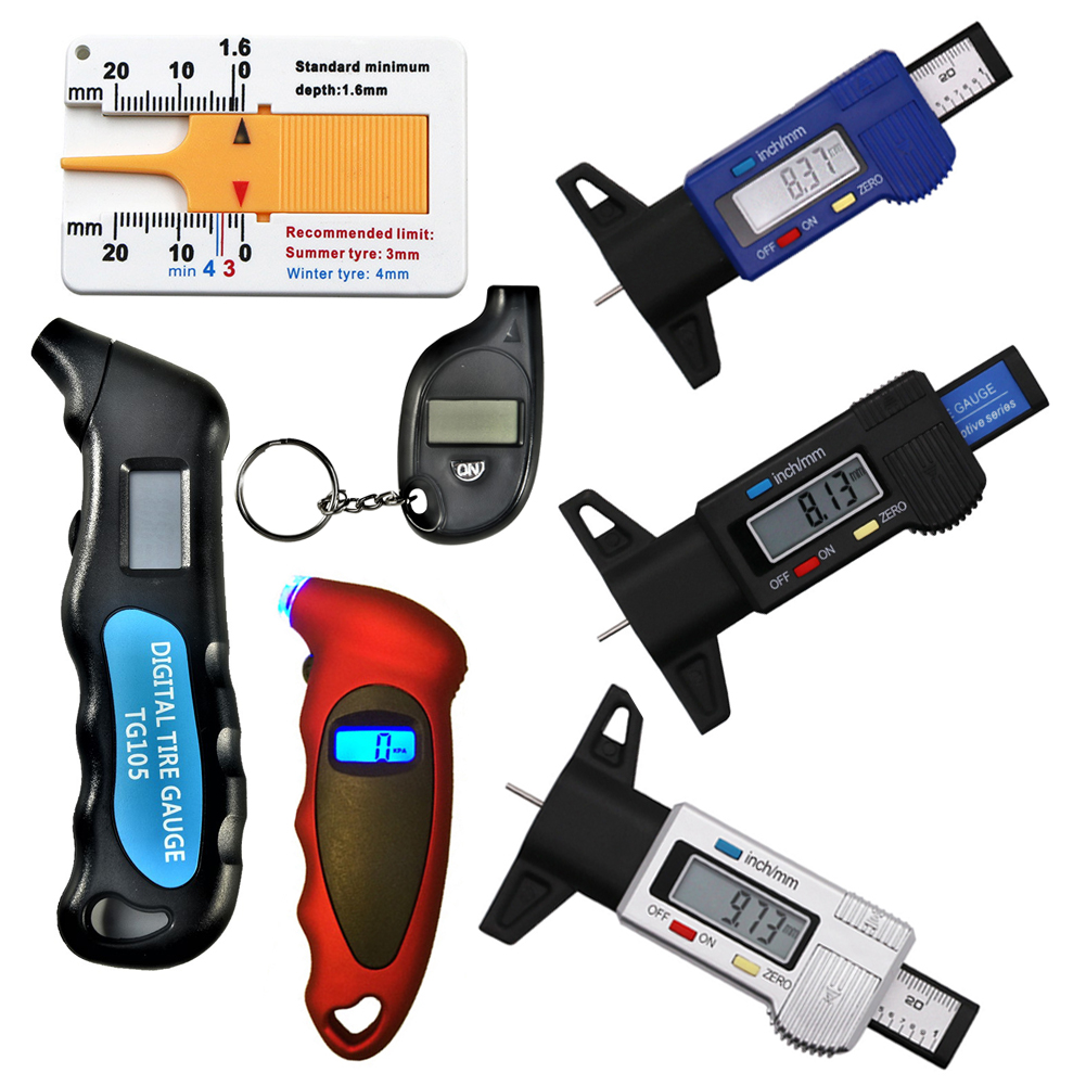 New Mini TG105 TG101 LCD Digital Car Tyre Tire Tyre Gauge Meter Measurer Tool Manometer Barometers Air Pressure Thickness Tester