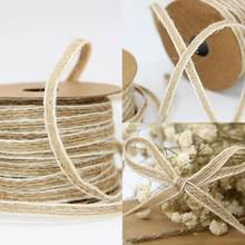 Fish Silk Wedding Fish Silk Hemp Ribbon Trims Tape Roll Line Vintage Decoration With White K0R4(China)