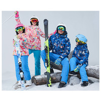 Outdoors Family Skiing Suit Warm Ventilation Waterproof Children Ski Jacket Pants Mother Daughter Dad Son Skiing Clothes Set