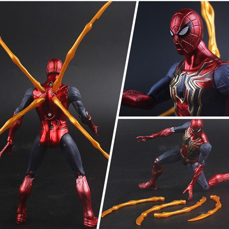 New Upgrade Multi-joint Marvel Super Heroes Avengers Captain America Thor Iron Man Spiderman Hulk Thanos Action Figure Toys Kids