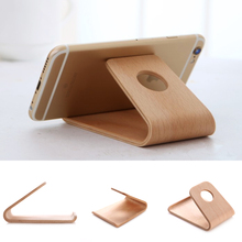 Universal Wood Wooden Holder Desktop Stand Bracket For iPhone Cell Phone #5