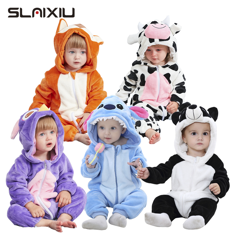 SLAIXIU Baby Sleeper Cotton Pajamas For Children Girls Cartoon Anime Panda Kids Costume Boy Sleepwear Newborn Blanket Jumpsuit-in Blanket Sleepers from Mother & Kids