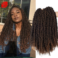 Passion Twist Hair 6 packs Fluffy Twists Pre Stretched 12'' Ombre Synthetic Croc